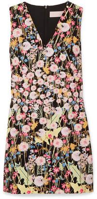 Peter Pilotto Floral-print Cady Mini Dress - Black