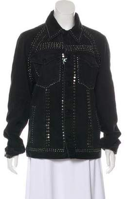 Frame Embellished Long Sleeve Jacket w/ Tags