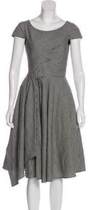 Oscar de la Renta Gingham Wool Dress