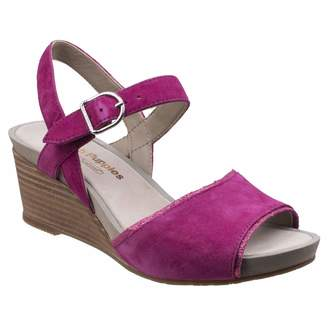 Hush Puppies Womens/Ladies Cassale Buckle Ankle Strap Wedge Leather Sandals (8 US)