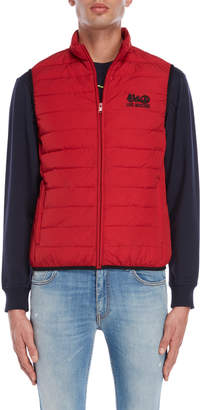 Love Moschino Embroidered Logo Puffer Vest