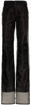 Y/Project Y / Project straight leg chiffon layered jeans
