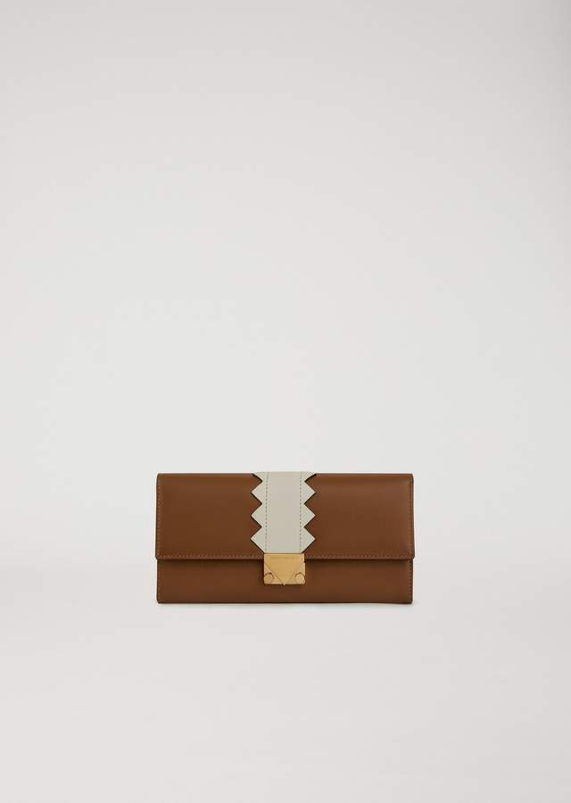 EMPORIO ARMANI leather wallet with shaped detail