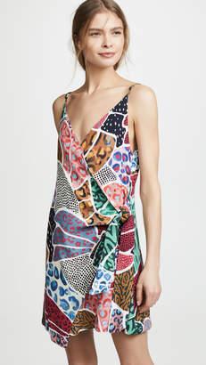 FARM Rio Onca Patchwork Wrap Dress