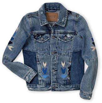 Blank NYC Blanknyc (Girls 7-16) Embroidered Denim Jacket