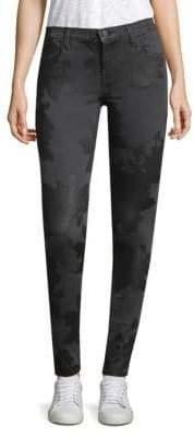 J Brand Embossed Print Skinny Jeans