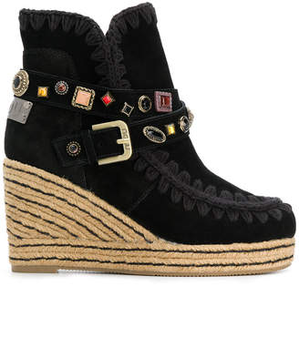 Mou Eskimo studded wedge ankle boots
