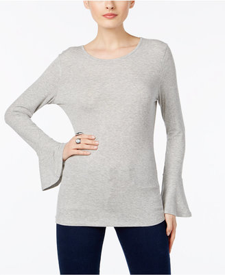 INC International Concepts Bell-Sleeve Open-Back Top, Only at Macy's $49.50 thestylecure.com