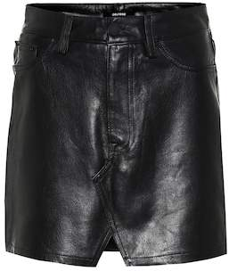 GRLFRND Zamira leather miniskirt