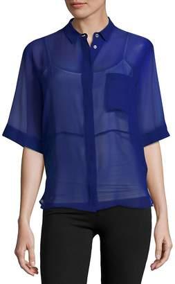 MSGM Women's Silk Sheer Shirt