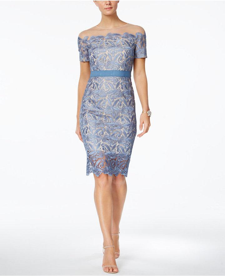 Jax Illusion Lace Sheath Dress