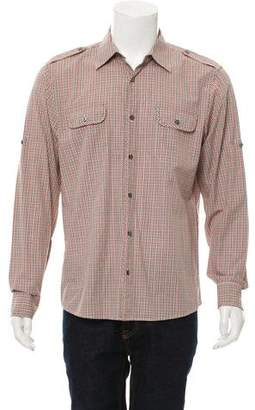 Michael Kors Gingham Button-Up Shirt