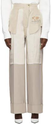 MM6 MAISON MARGIELA Beige Inside-Out Dress Trousers