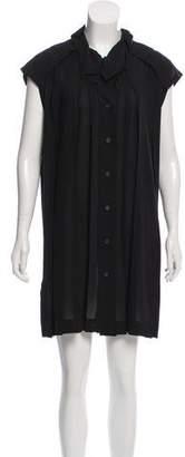 Issey Miyake Fete Pleated Sleeveless Dress