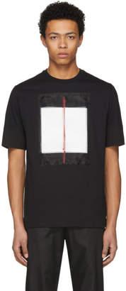 Neil Barrett Black Painted Line T-Shirt