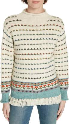 Tory Burch Floral Jacquard Sweater