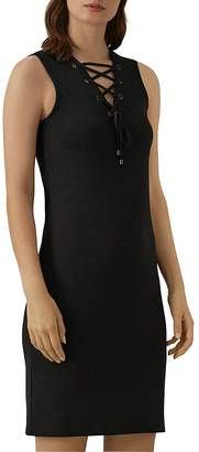 Karen Millen Lace-Up Ponte Dress