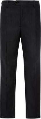 Burberry Cropped Crepe Slim-Leg Pants
