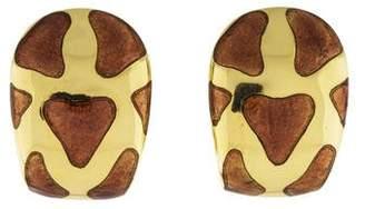 Roberto Coin 18K Giraffe Animalier Clip-On Earrings