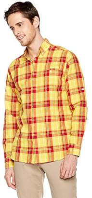 Isle Bay Linens Men's Long Sleeve Cover Placket Woven Shirt Slim Fit XL