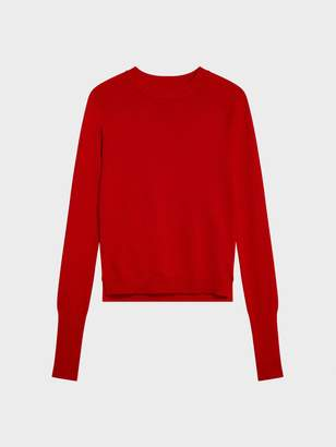 Donna Karan Donnakaran Crew Neck Pullover Red XL