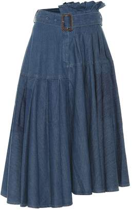 J.W.Anderson Asymmetric denim midi skirt