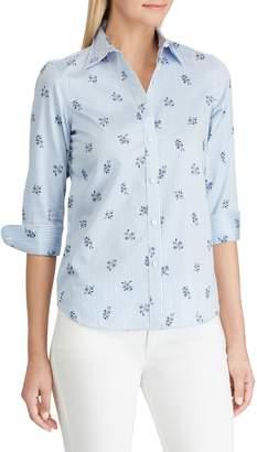 Chaps Petite No-Iron Button Down Shirt
