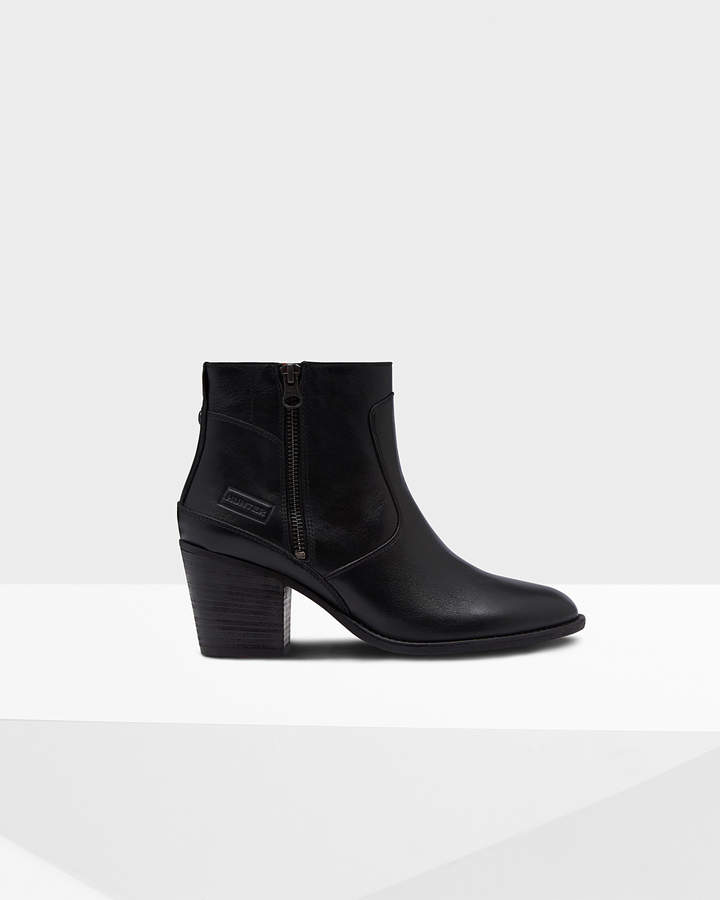 Hunter Women's Original Refined Leather Ankle Boots