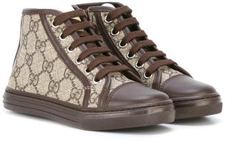 Gucci Kids lace-up hi top sneakers