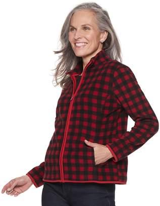 Croft & Barrow Petite Long Sleeve Fleece Jacket