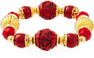 Jose & Maria Barrera Cinnabar Stretch Bracelet