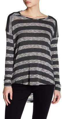 Tart Striped Drape Back Shirt