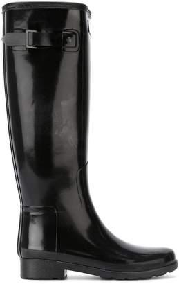Hunter buckle wellington boots