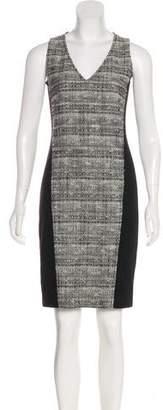 Akris Punto Tweed-Paneled Sheath Dress