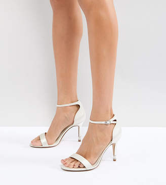 Dune London Dune Bridal Bridal Wide Fit Two Part Heeled Shoe in Ivory