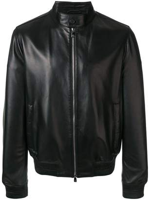 Corneliani classic zipped leather jacket