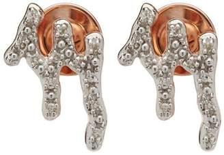Monica Vinader Rose Gold-Plated Riva Waterfall Diamond Stud Earrings