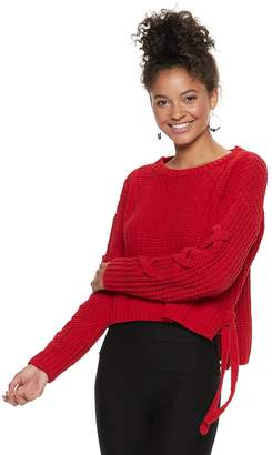 Candies Juniors' Candie's Chenille Long Sleeve Top