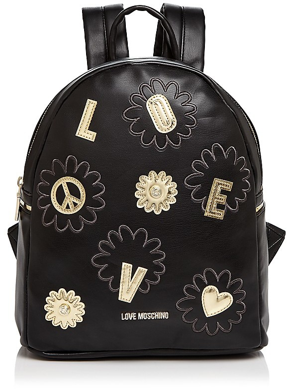 Love Moschino Love Moschino Daisy Patchwork Leather Backpack