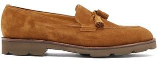 John Lobb Callington Suede Tassel Loafers - Mens - Brown