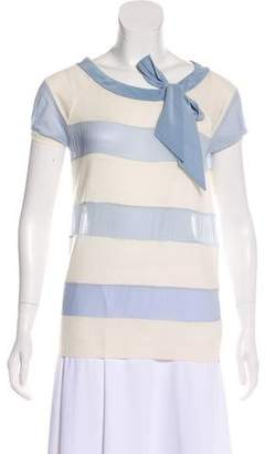 Christian Dior Striped Knit Top