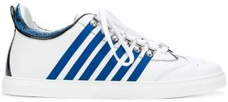 DSQUARED2 tennis side stripe sneakers