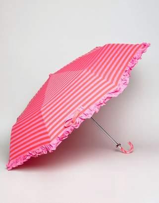bombay duck Lollipops Stripy Handbag Umbrella Fuchsia and Red