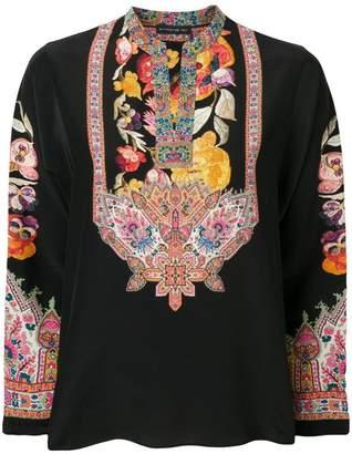 Etro printed longsleeve blouse