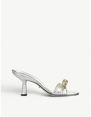 Gucci Dora 45 tiger-embellished leather mules