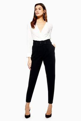 Topshop Petite Belted Peg Trousers
