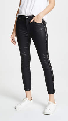 7 For All Mankind B(air) Coated High-Waisted Skinny Jeans