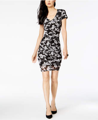 INC International Concepts I.N.C. Floral-Print Ruched Dress, Created for Macy's