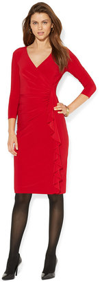 American Living Matte-Jersey Ruched Surplice Dress $69 thestylecure.com