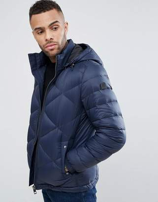 BOSS Orange By Hugo Obaron Removable Hooded Padded Jacket In Navy